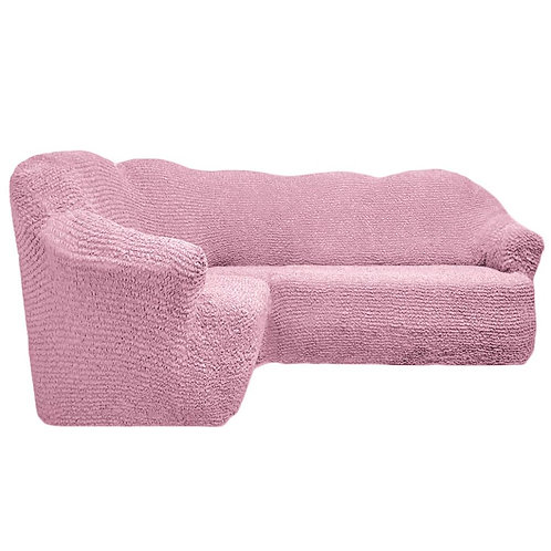 На угловой диван без оборки. Цвет: розовый
