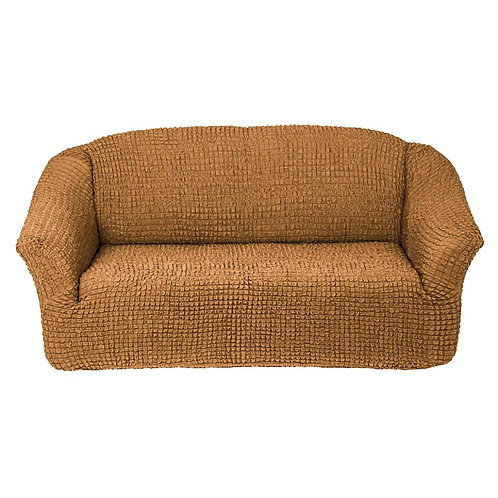 На 4-х местный диван без оборки. Цвет: горчичный
