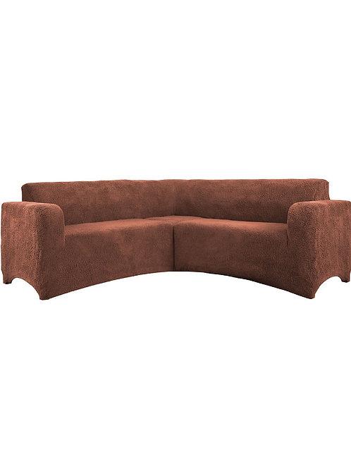 """На угловой диван """"Плюш"""" без оборки. Цвет: коричневый"""