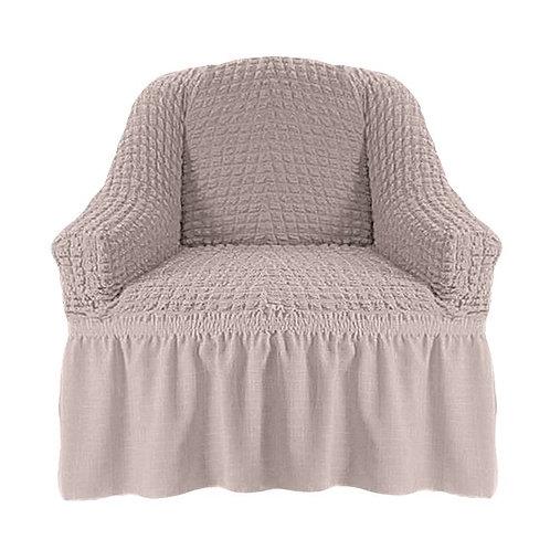 На кресло с оборкой. Цвет: натуральный