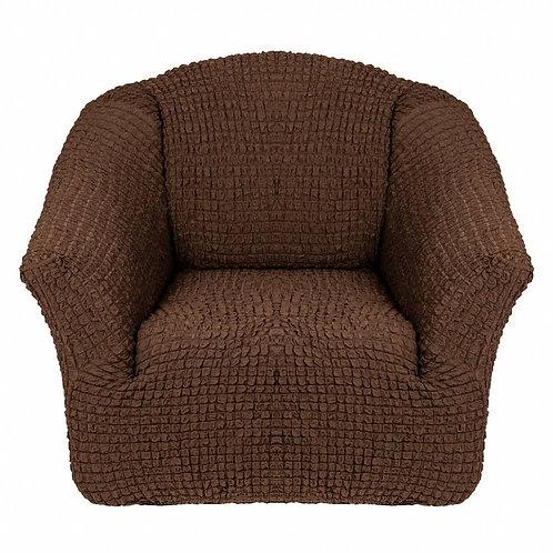 На кресло без оборки. Цвет: шоколад