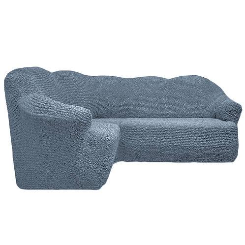 На угловой диван без оборки. Цвет: серый