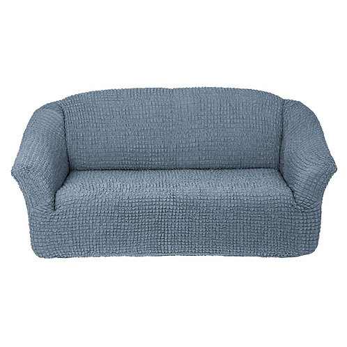 На 4-х местный диван без оборки. Цвет: серый