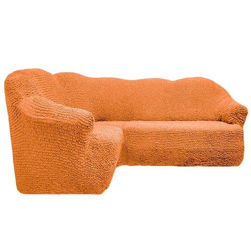 На угловой диван без оборки. Цвет: оранжевый