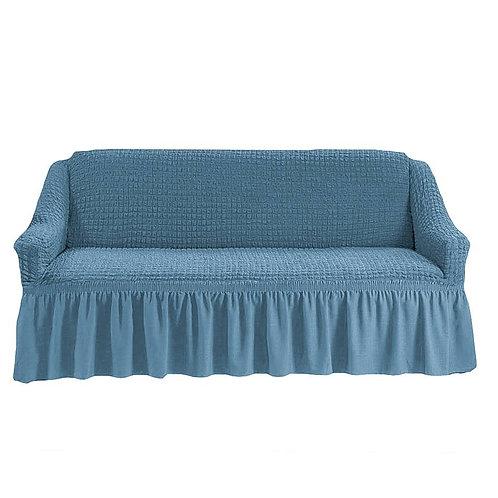 На 4-х местный диван. Цвет: серо-голубой