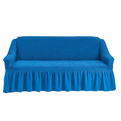На диван с оборкой. Цвет: синий