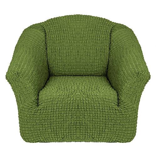 На кресло без оборки. Цвет: оливковый