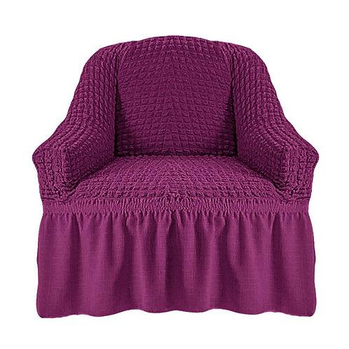 На кресло с оборкой. Цвет: фиолетовый