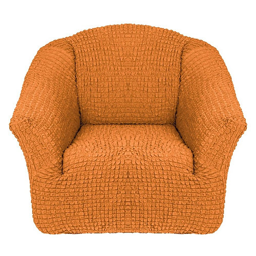 На кресло без оборки. Цвет: рыже-коричневый