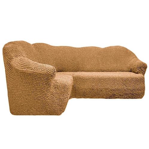 На угловой диван без оборки. Цвет: медовый