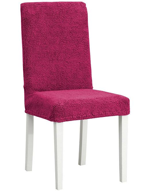 """Комплект чехлов на стулья """"Плюш"""" (6 шт.) Цвет: бордовый"""