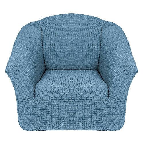 На кресло без оборки. Цвет: серо-голубой