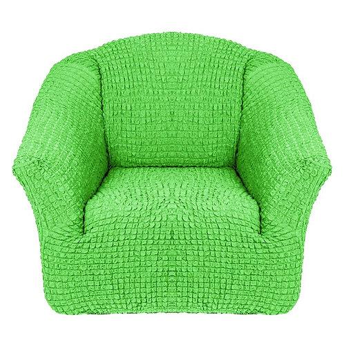 На кресло без оборки. Цвет: салатовый