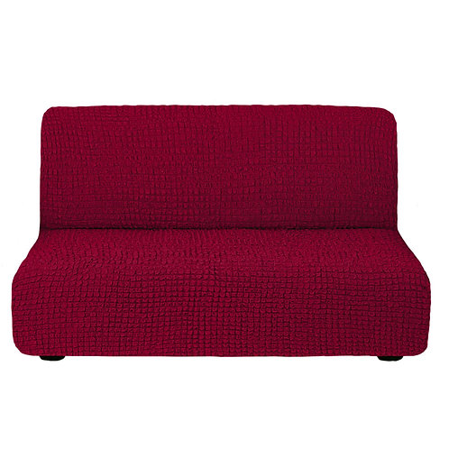 На диван без подлокотников. Цвет: бордовый