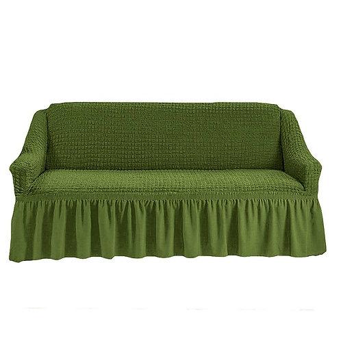 На 4-х местный диван. Цвет: оливковый