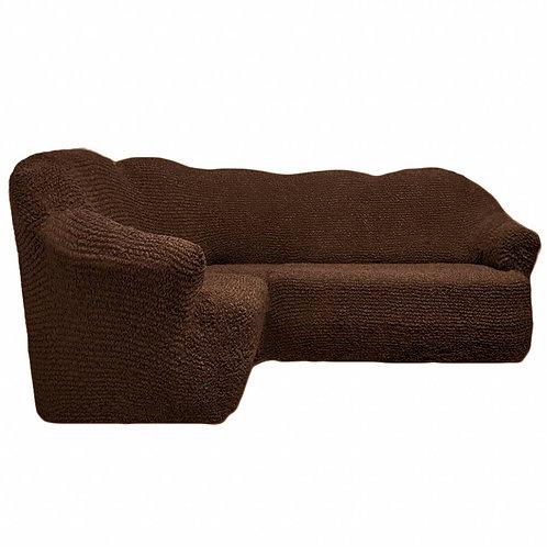 На угловой диван без оборки. Цвет: шоколад