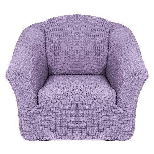На кресло без оборки. Цвет: лиловый