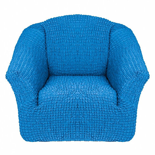 На кресло без оборки. Цвет: синий