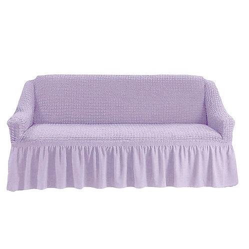 Чехол для дивана с оборкой. Цвет: светло-лиловый