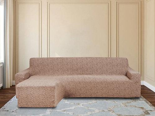 На диван с оттоманкой жаккард. Цвет: капучино.