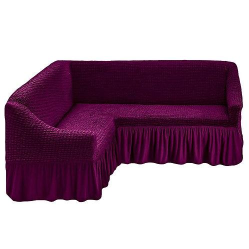 На угловой диван с оборкой. Цвет: фиолетовый