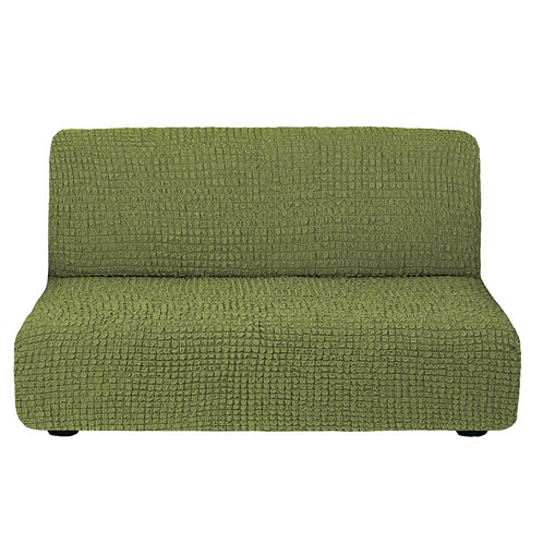 На диван без подлокотников. Цвет: оливковый