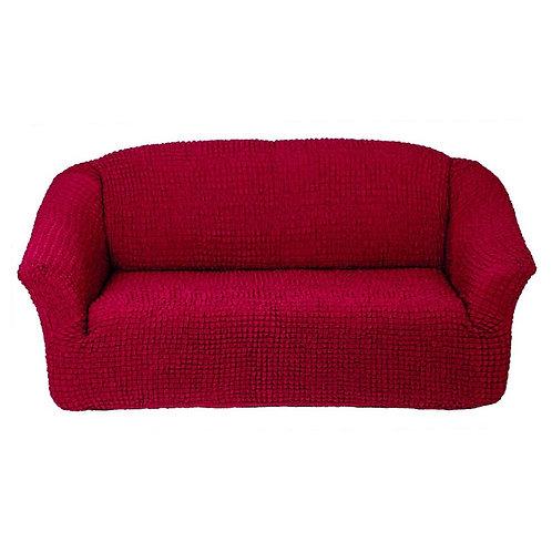 На 4-х местный диван без оборки. Цвет: бордовый