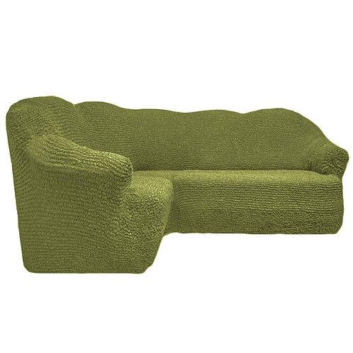 На угловой диван без оборки. Цвет: фисташковый