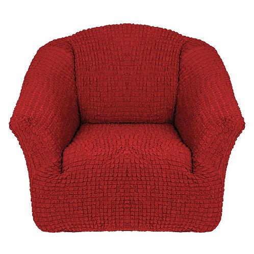 На кресло без оборки. Цвет: терракотовый
