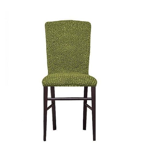 Комплект чехлов на стулья без оборки. Цвет: фисташковый