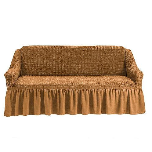 На диван с оборкой. Цвет: горчичный
