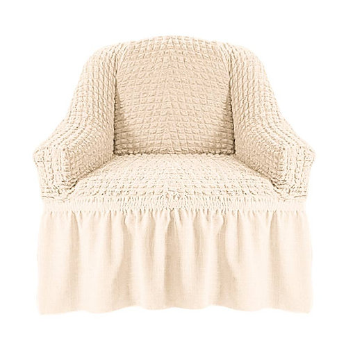 На кресло с оборкой. Цвет: кремовый