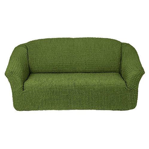 На 4-х местный диван без оборки. Цвет: оливковый