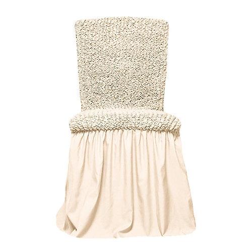 Комплект чехлов на стулья. Цвет: кремовый