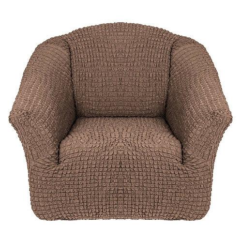 На кресло без оборки. Цвет: серо-коричневый