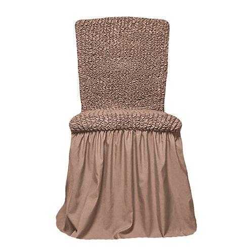 Комплект чехлов на стулья. Цвет: капучино