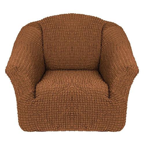На кресло без оборки. Цвет: светло-коричневый