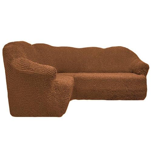 На угловой диван без оборки. Цвет: светло-коричневый