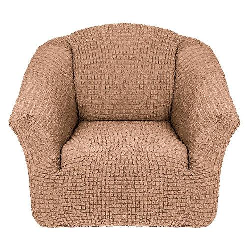 На кресло без оборки. Цвет: песочный