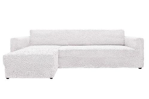На диван с оттоманкой. Цвет: кремовый.
