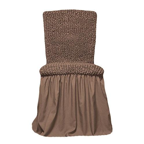 Комплект чехлов на стулья. Цвет: серо-коричневый