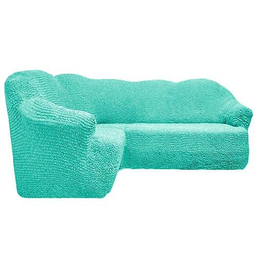На угловой диван без оборки. Цвет: мятный