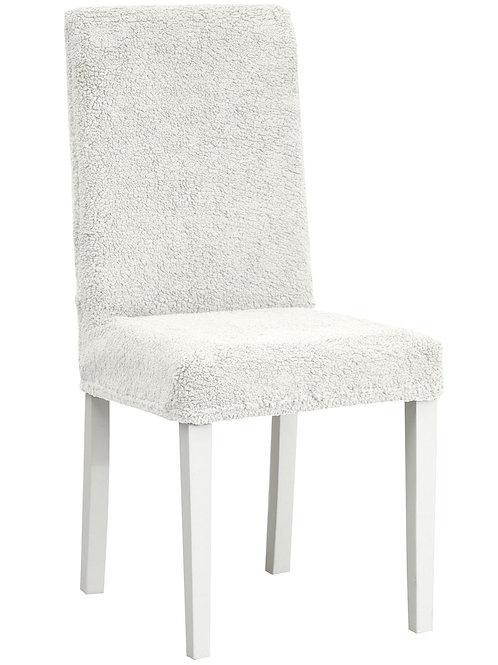 """Комплект чехлов на стулья """"Плюш"""" (6 шт.) Цвет: кремовый"""