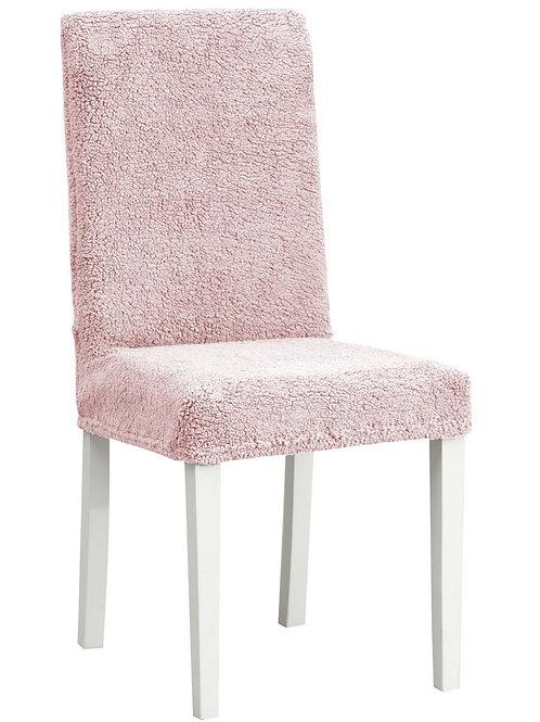 """Комплект чехлов на стулья """"Плюш"""" (6 шт.) Цвет: розовый"""