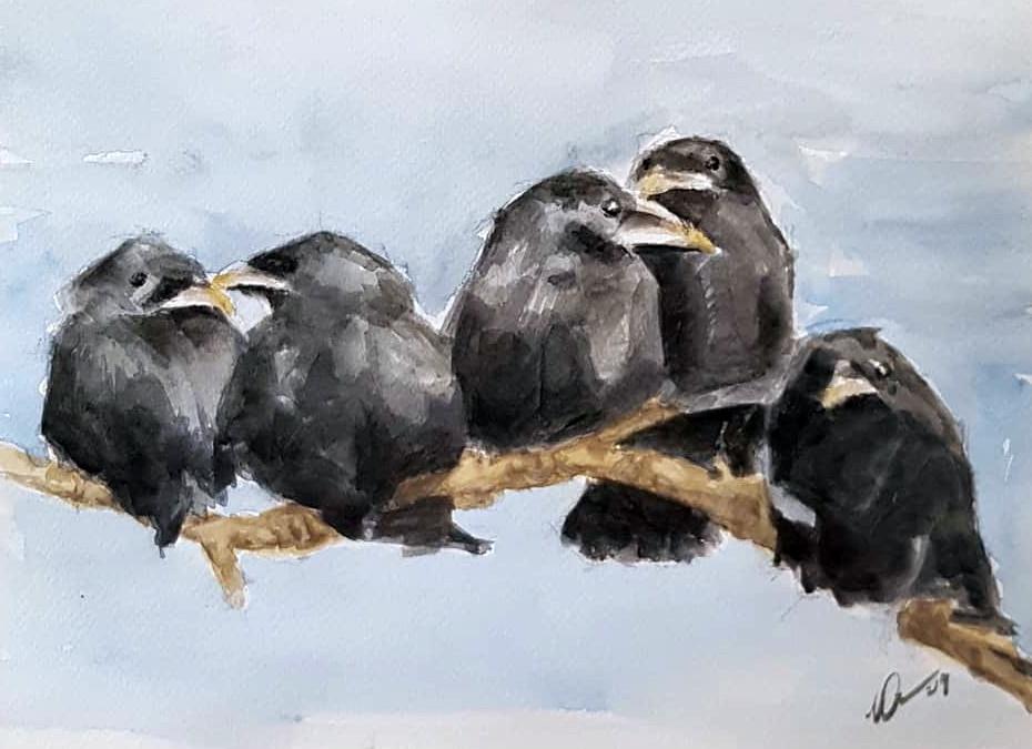 12 x 9 inch watercolour