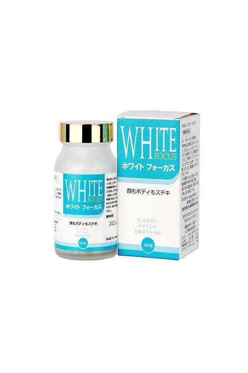 White Focus 人気成分L-シスチン+ビタミンC(180錠)