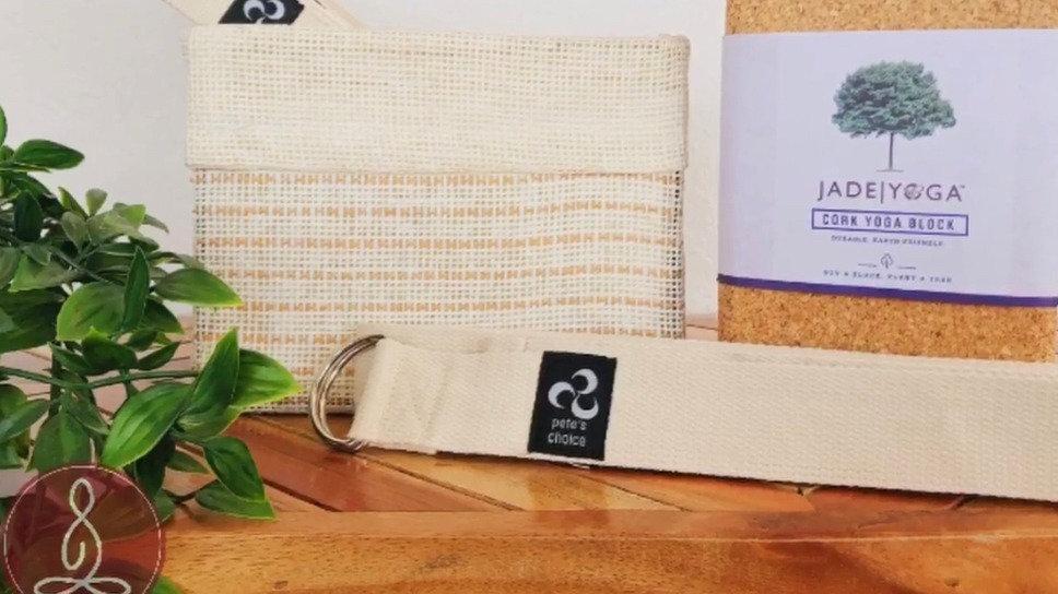 Yoga Starter Kit (Mat, Block, Strap, and Yoga Towel)