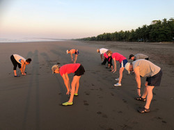 Group Exercise on Beach
