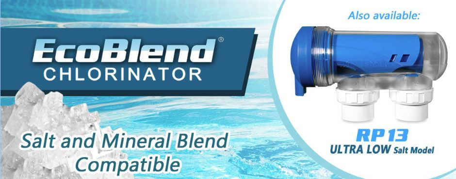 WATERMAID EcoBlend RP13 (Low Salt) Self Cleaning Salt Water Chlorinator