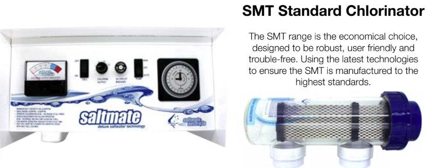 SaltMate SMT120 Salt Chlorinator - with Battery Backup Timec